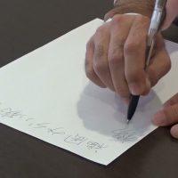 字が書けない(本態性振戦、視床凝固術)▶動画